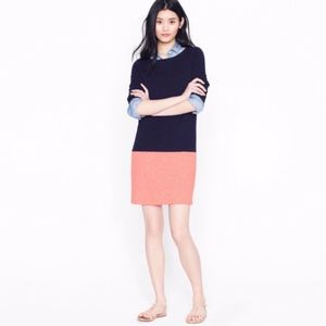 J. CREW Navy Pink Colorblock MARITIME Dress